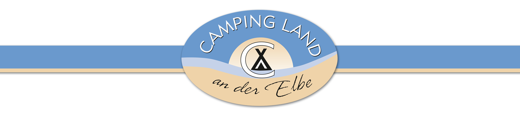 Logo Camping Land and der Elbe